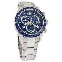 Tissot V8 Series Mens Blue Chronograph Quartz Watch T039.417.1...