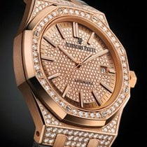 Audemars Piguet New Royal Oak Lady Pavé Pink Gold Diamond...
