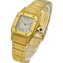 Cartier Santos Square Small Size 25mm Automatic Yellow Gold