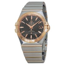Omega Constellation Automatic Grey Dial Steel and 18kt Rose...