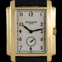 Patek Philippe 18k Yellow Gold Silver Arabic Dial Gondolo 5024J