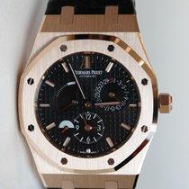 Audemars Piguet Royal Oak Dual Time 39 black dial in rose gold...