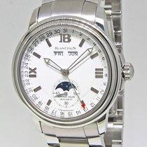 Blancpain Leman Calendar Moonphase Date Stainless Steel...