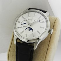 Zenith Captain Moonphase 03.2140.691/02.c498 Silver Guilloche...