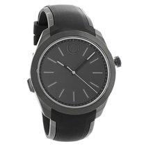 Movado Bold Mens Black Dial Rubber Strap Swiss Quartz Watch...