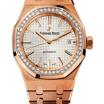 Audemars Piguet Royal Oak 18K Pink Gold & Diamonds Ladies...