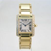 Cartier Tank Francaise 18k gold Diamond Set