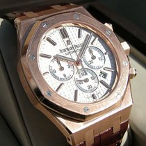 Audemars Piguet Ap Royal Oak Chronograph 18k Pink Gold Silver...