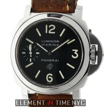 Panerai Luminor Collection Stainless Steel Black Logo Dial 44mm