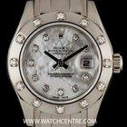 Rolex 18k W/G White MOP Diamond Set Pearlmaster Datejust...