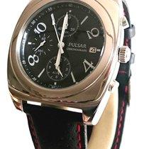Pulsar Seiko 7T62-X070 Chronograph 40mm Stainless Steel Black...
