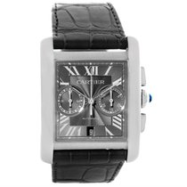 Cartier Tank Mc Automatic Grey Dial Mens Watch W5330008 Box...