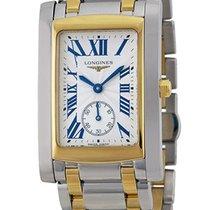 Longines Dolce Vita Steel & 18k Gold Mens Luxury Watch...