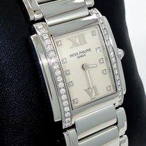 Patek Philippe Twenty 4 Factory Diamonds Steel Ladies Watch...