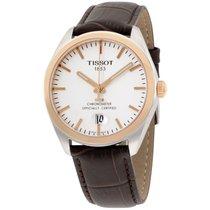 Tissot Pr100 Silver Dial Black Leather Men's Watch...