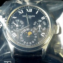 Patek Philippe 3940p With Blk Roman Dial And Dauphine Hands -...