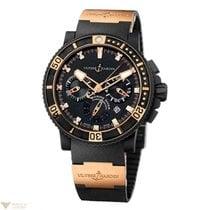 Ulysse Nardin Black Sea Chronograph Rose Gold Hands Men`s Watch