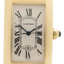 Cartier Tank Americaine 18k Yellow Gold Lady's Automatic...