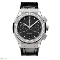 Hublot Classic Fusion Chronograph Titanium Diamonds Men's...