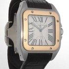 Cartier SANTOS 100 XL18K GOLD & STAINLESS STEEL