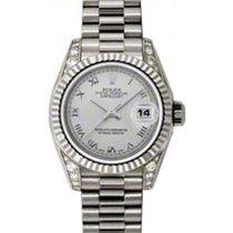 Rolex Lady-Datejust 26 179239-SLVRP Silver Roman Diamond Set...