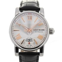 Montblanc Star Collection 42 Silver Automatic Guilloche Dial