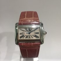 Cartier DIVAN STAINLESS STEEL MOTHER OF PEARL DIAL
