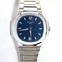 Patek Philippe Ladies Nautilus 35.2 blue dial in full stainles...
