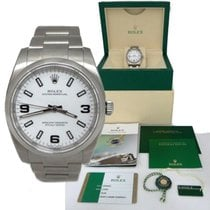 Rolex 2015 Mens Rolex Oyster Perpetual Stainless Steel White...