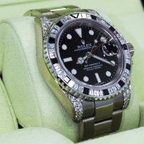 Rolex Gmt Master II 116719 18k White Gold 6ct Baguette...