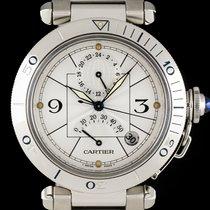 Cartier S/S Power Reserve GMT Pasha Gents W31037H3