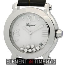 Chopard Happy Sport II 7 Diamonds Round Steel 36mm Ref. 27/8475