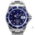 Rolex Submariner Stainless Steel Blue Serti Dial Blue 60min...