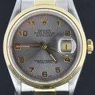 Rolex Datejust 36MM steel/Gold grey arabic dial