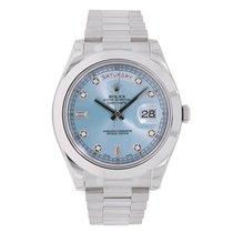 Rolex DAY-DATE II 41mm Platinum President Watch UNWORN