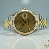Rolex Datejust Ref: 16233 Stahl / Gold Diamanten Zifferblatt