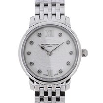 Frederique Constant Slim Line Mini Silver Diamond Heart Dial