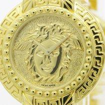 Versace Medusa Coin Watch Gold Plated Quartz Unisex Watch...