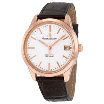 Jaeger-LeCoultre Geophysic Date Automatic Brown Leather Mens...