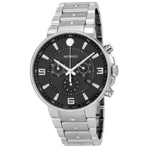 Movado SE Pilot Black Dial Stainless Steel Chronograph...