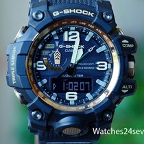 Casio G Shock Mudmaster Black & Gold Triple Sensor Digital...