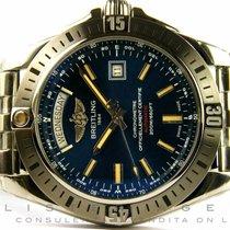 Breitling Galactic 44MM in acciaio Blu AUT
