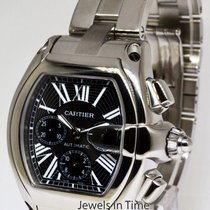 Cartier Roadster Chronograph Stainless Steel Black Dial Mens...