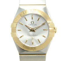 Omega Constellation Gold And Steel Silver Quartz 123.20.24.60....