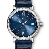 IWC Schaffhausen IW458111 Portofino Automatic 37 Blue Diamond...
