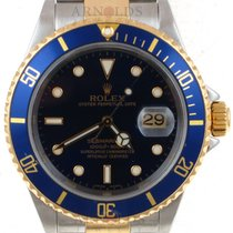 Rolex Two Tone Submariner Blue Dial And Blue Bezel