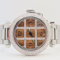 Cartier Pasha De Cartier Auto 35mm NonFactory Diamonds Setting...