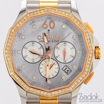 Corum Admiral's Cup Legend Chrono 38mm Steel/Red Gold Diamonds...