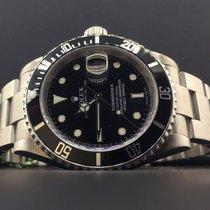 Rolex Submariner 16610 40mm Steel Black Dial Rehaut Engraved...