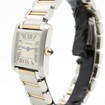 Cartier Tank Francaise Francese Steel Gold Lady Donna